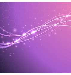 Speed waves - bright background with sparkles vector image