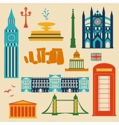 Landmarks of united kingdom vector