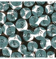 seamless pattern balls doodles vector image