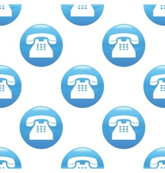 Old phone sign pattern vector