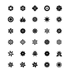 Flowers or Floral Icons 1 vector image