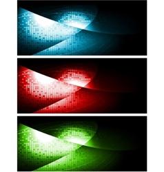 Dark contrast banners vector