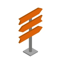 Direction signs icon isometric 3d style vector