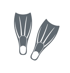 Diving flippers icon vector