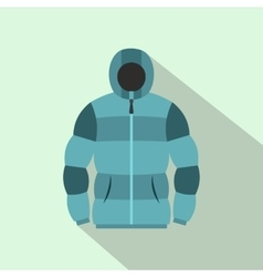 Blue hoodie icon flat style vector