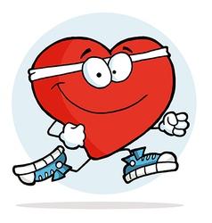 Jogging Heart vector image
