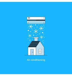 Air conditioning concept vector image