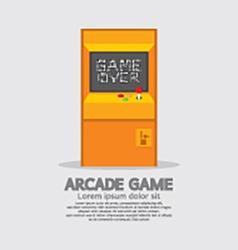 Arcade Machine vector image vector image