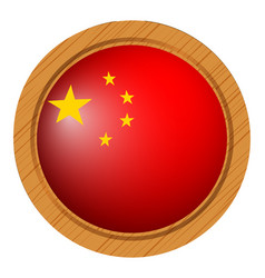 Badge design for china flag vector