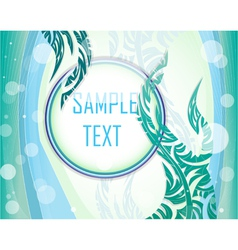Blue and green layout vector