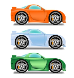 Cartoon racecar vector image vector image
