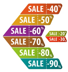 Collect Sale Signs vector image