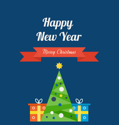 coming new year of christmas gifts and mood vector image