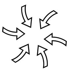 Cyclone arrows stroke icon vector