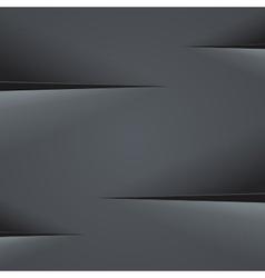 Dark grey paper cut background vector