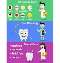 Dental banners on hygiene vector