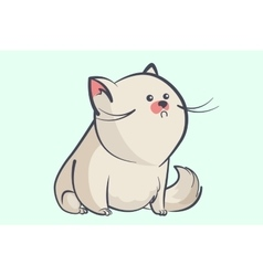 fat gray cat with a little round eyes vector image