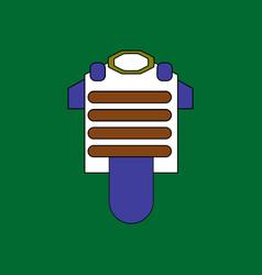 Flat icon design collection bulletproof vest vector
