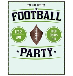 Football Party Flyer Poster vector image vector image