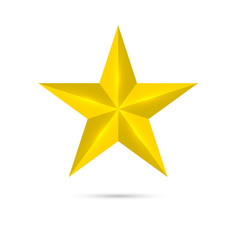Golden shiny glossy star vector