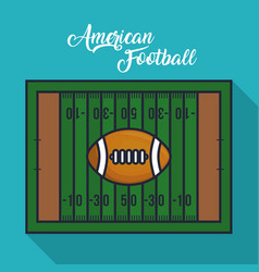 Green american football field vector