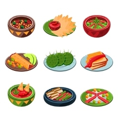Mexican traditional food set vector