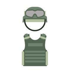 Military clothing uniform isolated on a white vector image