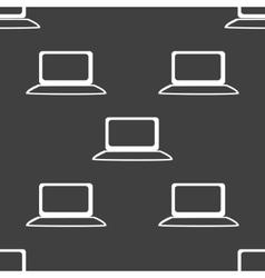 Notebook web icon flat design Seamless gray vector image vector image