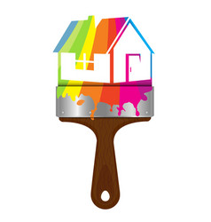 Painting house design vector