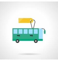 Passenger transportation flat color icon vector image
