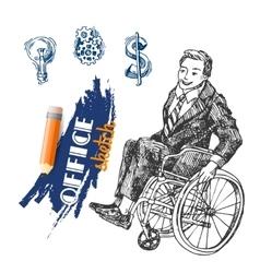 Person on wheelchair vector