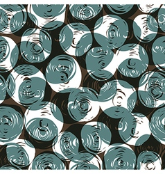 Seamless pattern balls doodles vector