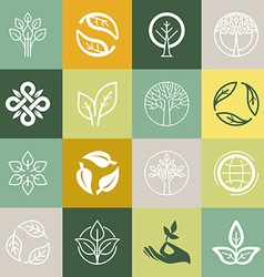 set or organic signs vector image vector image