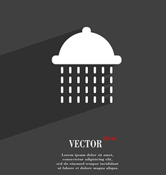 Shower icon symbol flat modern web design with vector