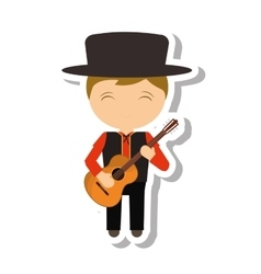 Spanish flamenco man avatar vector