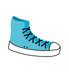 Tennis shoe sport casual boot icon vector
