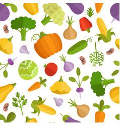 Vegetables cartoon seamless vector