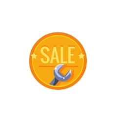 Wrench Sale Sticker vector image