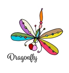 Art dragonfly sketch for your design vector