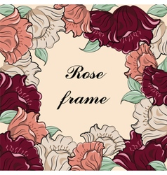 Rose flower vintage frame vector