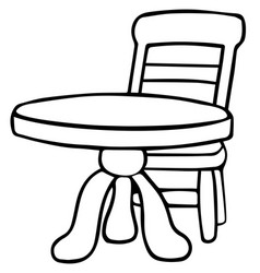 simple table design eps 10 vector image