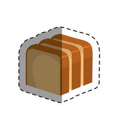 Delicious bread isolated icon vector