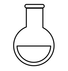 Tube test medical isolated icon vector