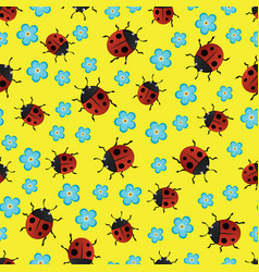 ladybirds pattern-01 vector image