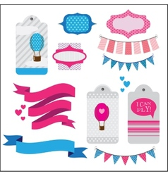 Set of ribbons and memory cards vector