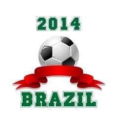2014 Brazil Soccer emblem vector image