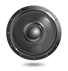 Sound speaker isolated vector