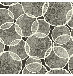 Seamless tree rings pattern vector