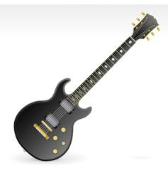 Rock guitar design element vector