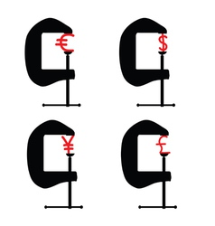 Clamp with currency vector